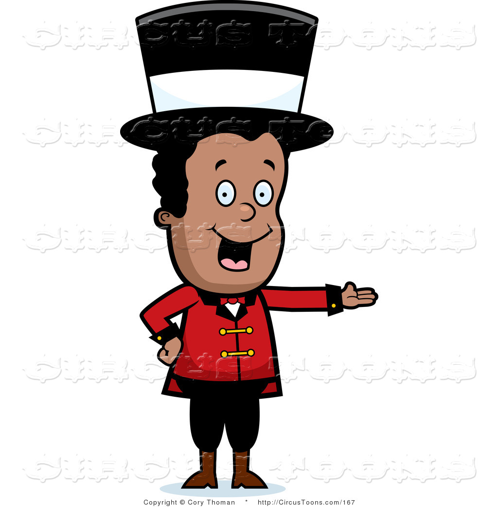 1024x1044 Circus Clipart Of A Black Circus Ringmaster Man Wearing A Hat