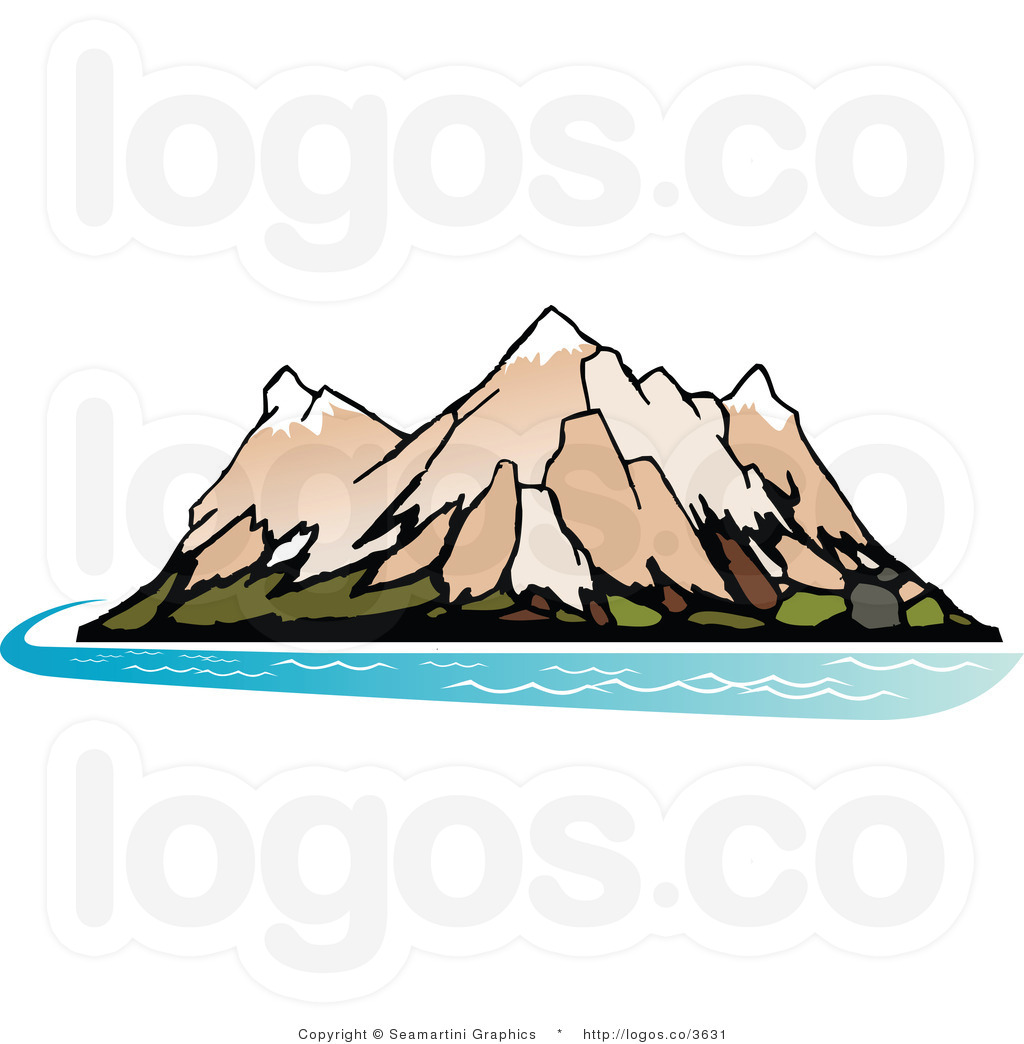 1024x1044 Mountain River Clipart
