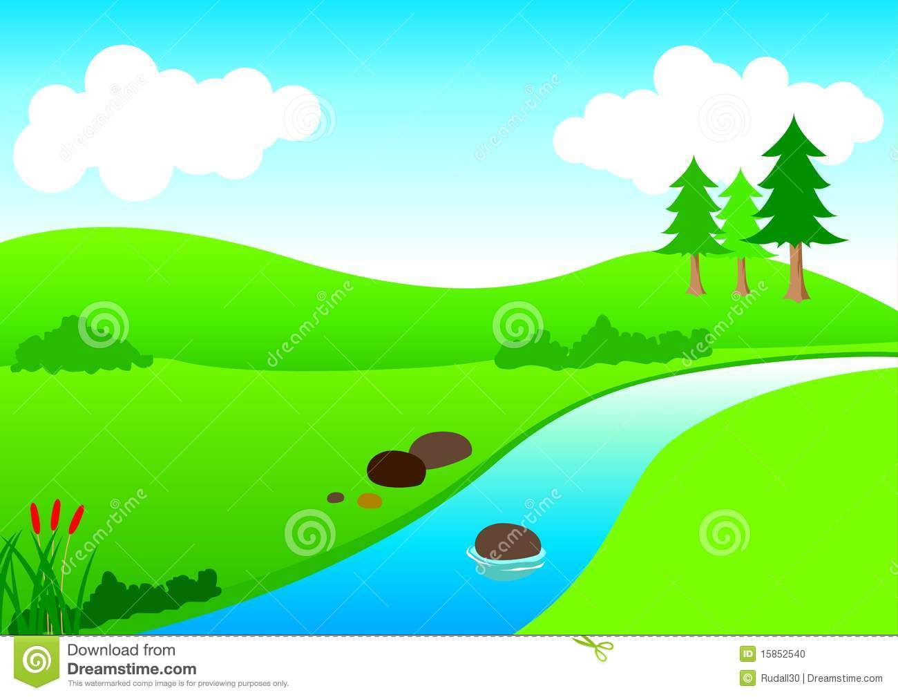 1300x1009 Mountain River Clipart
