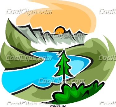 375x346 River Clipart River Scene
