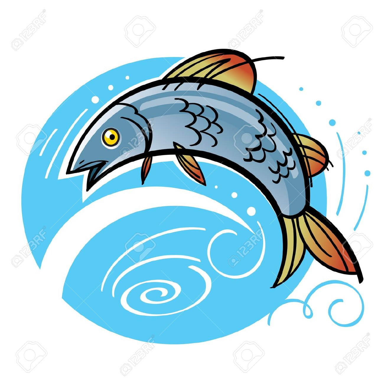 1300x1300 Fishing In River Clipart