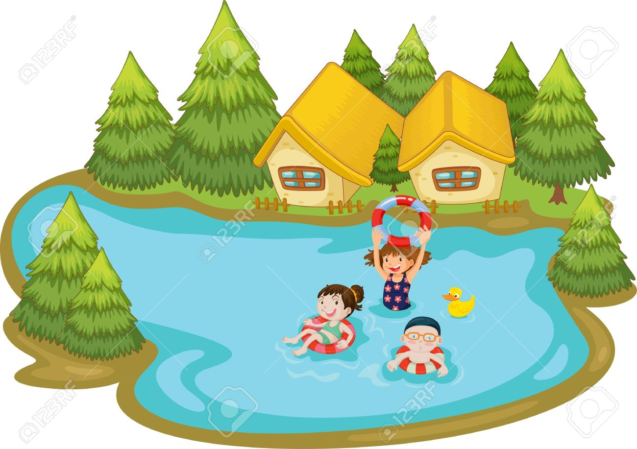 1300x917 Swimming Clipart Lake Swimming