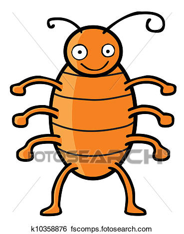 369x470 Clip Art of Happy cockroach k10358876