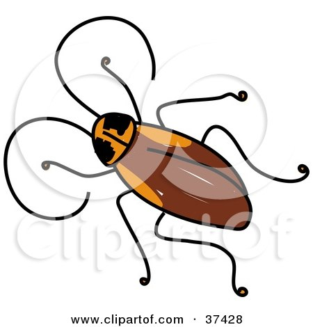 450x470 Clip Art of Small Roaches – Cliparts