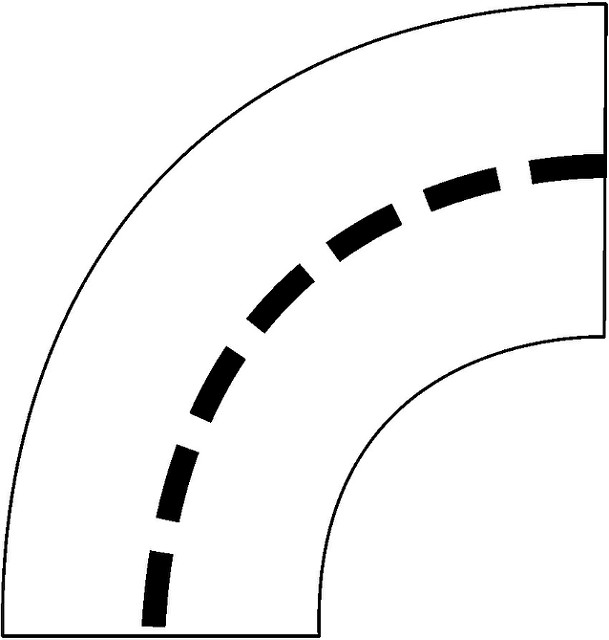 609x640 Curve Clipart Straight Road