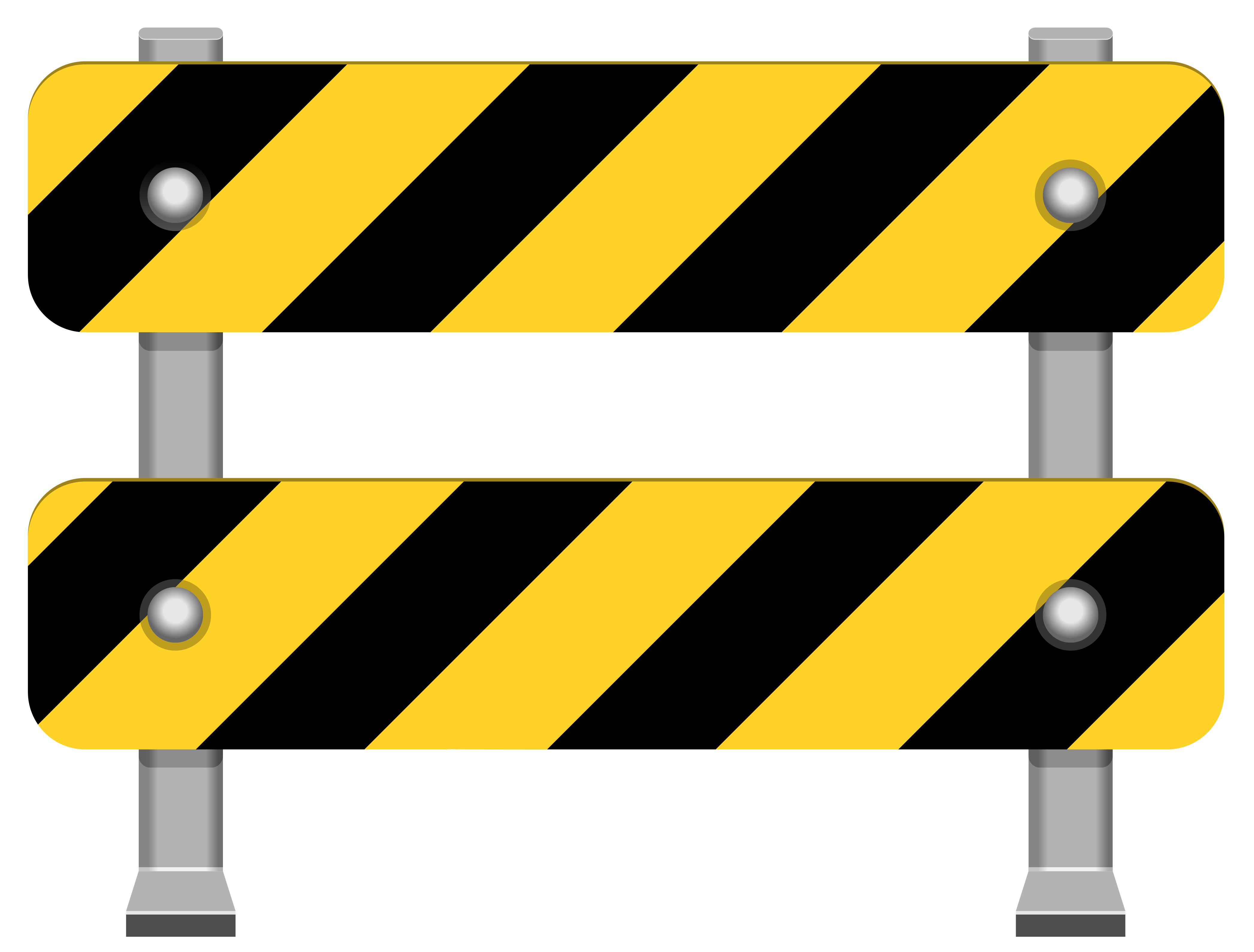 4185x3178 Yellow Road Barricade Png Clip Art