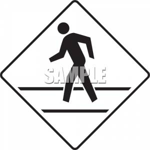 300x300 Crossing Road Sign Clip Art Picture