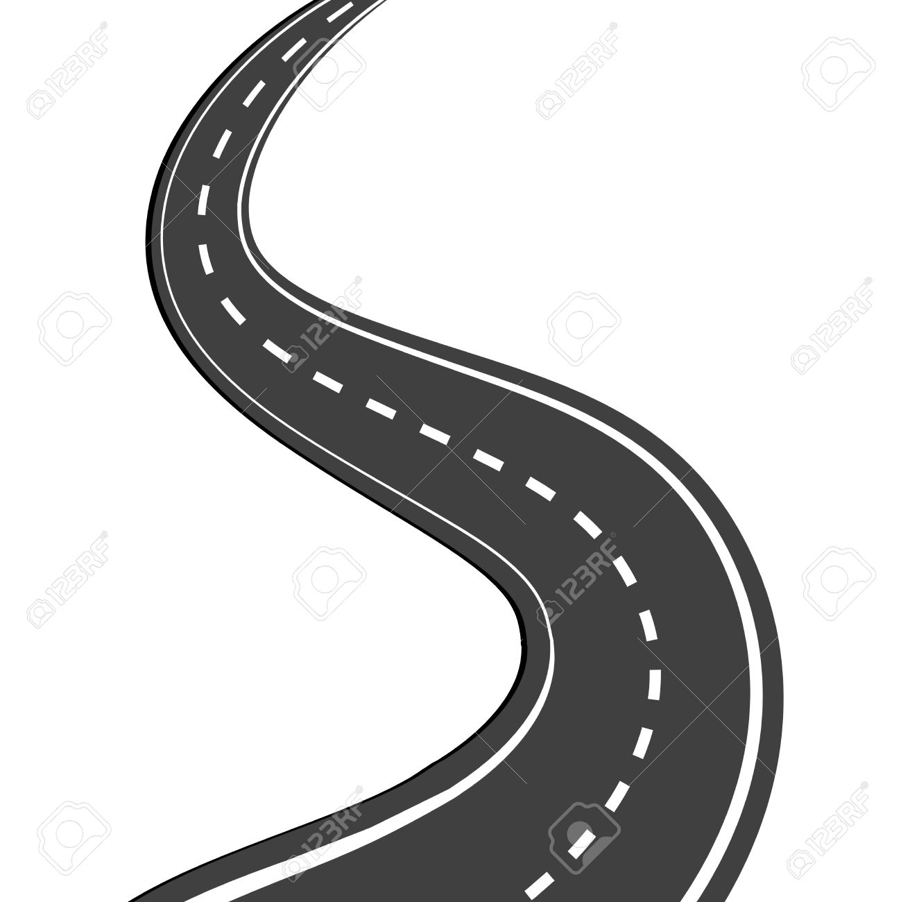1299x1300 Roadway clipart black and white
