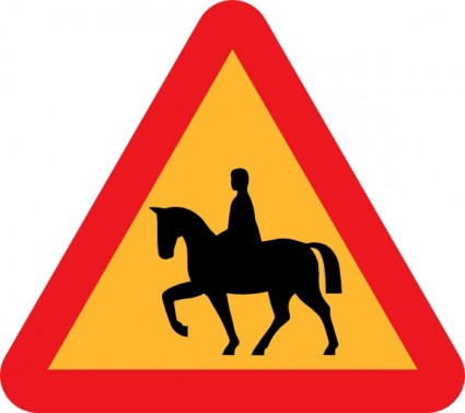 425x377 Horse Riders Road Sign Clip Art Vector Clip Art Free Vector Free