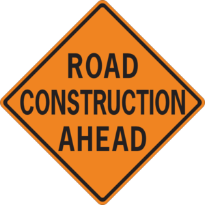 300x300 Road Construction Ahead Clip Art