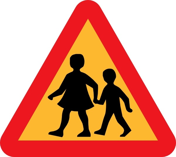 600x533 Child And Parent Crossing Road Sign Clip Art Free Vector In Open