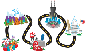 300x183 Road Clipart Road Map