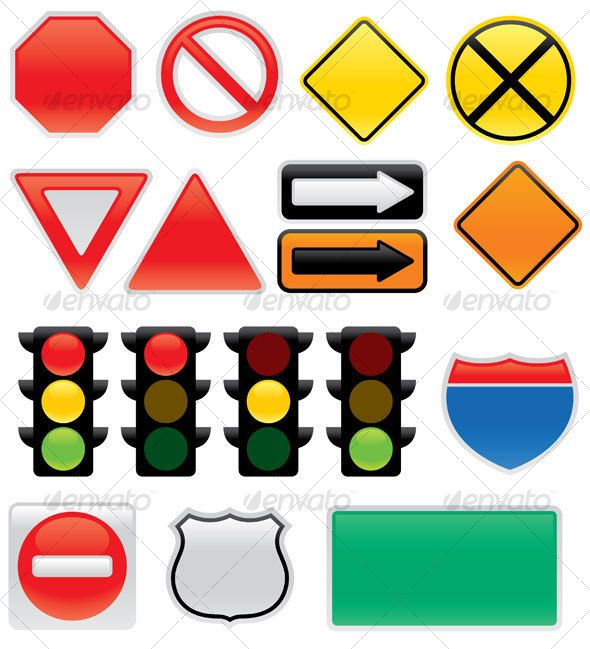 590x649 Street Light clipart highway sign