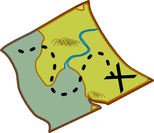 300x260 Treasure Map Clip Art