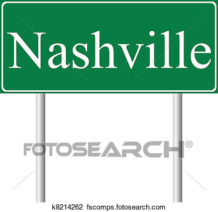 450x437 Clipart Of Nashville Green Road Sign K8214262