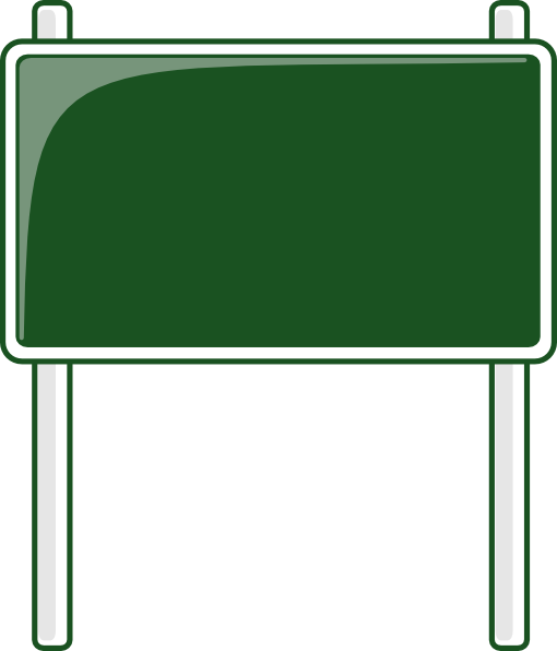 510x596 Green Road Sign Clip Art