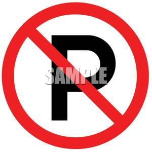 300x300 No Parking Sign Clipart