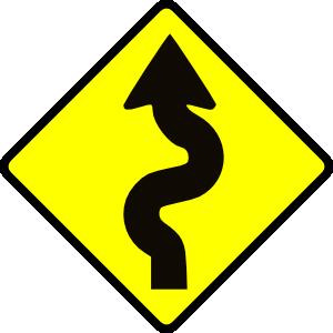 300x300 Winding Road Clip Art