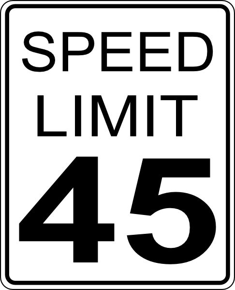 486x599 Road Signals 45mph Speed Limit Road Sign Clip Art