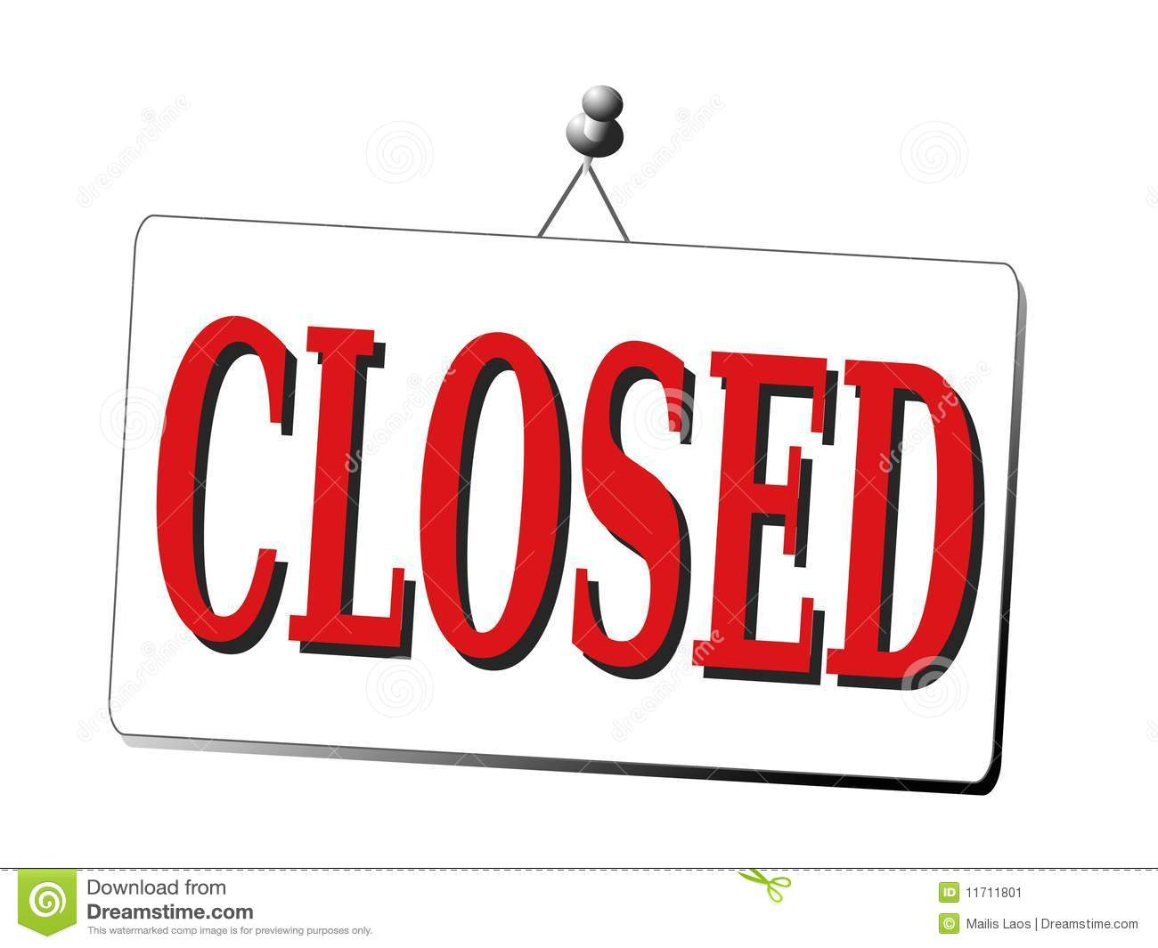 1300x1065 Closure Sign Clipart