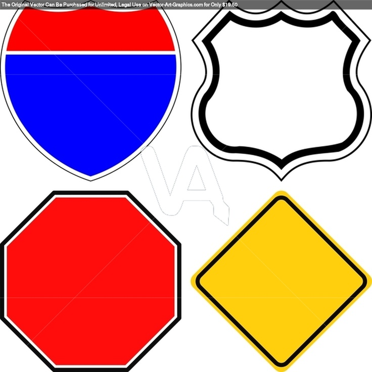 Road Sign Template Clipart | Free download best Road Sign Template ...