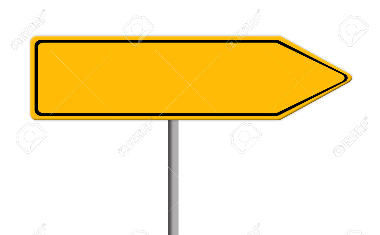 1300x806 Road Sign Template Clipart