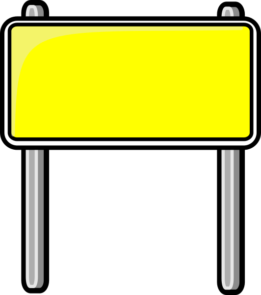 532x601 Sign Clipart Yellow