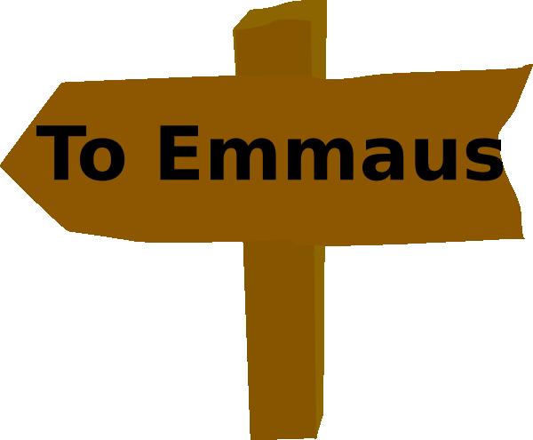 600x495 To Emmaus Clip Art