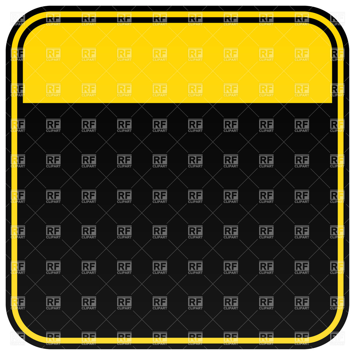 1200x1200 Black Square Warning Sign Template Royalty Free Vector Clip Art