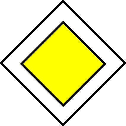425x425 Priority Road Traffic Sign clip art vector, free vectors