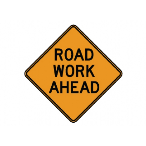 500x500 Road Work Ahead Sign Clip Art (12+)
