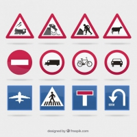 200x200 Road traffic signs clip art free vector graphic art free download