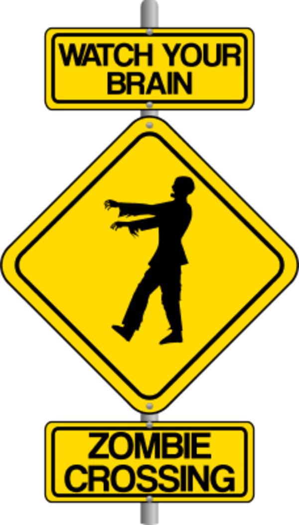 600x1053 traffic sign art Zombie Crossing the Street Comic Traffic Sign