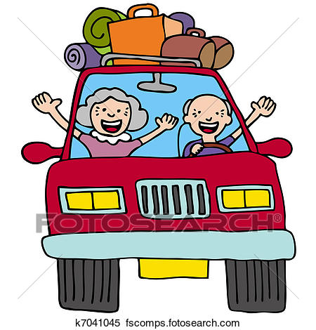 450x470 Clipart Of Road Trip Seniors K7041045