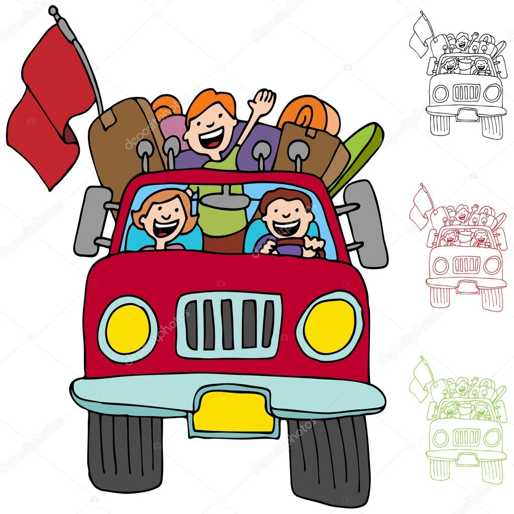 1024x1024 Road Trip Pickup Truck Family Stock Vector Cteconsulting
