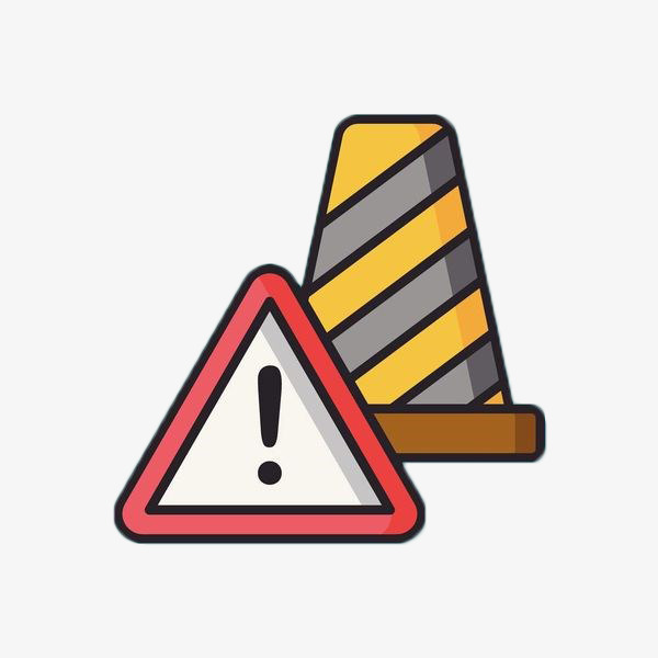 600x600 Hand Drawn Traffic Roadblock Sign, Hand, Warning Tape, Safety
