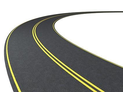 425x319 Curve Clipart Road Map
