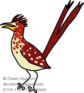 272x300 Image Of A Whimsical Drawing Of A Roadrunner Bird
