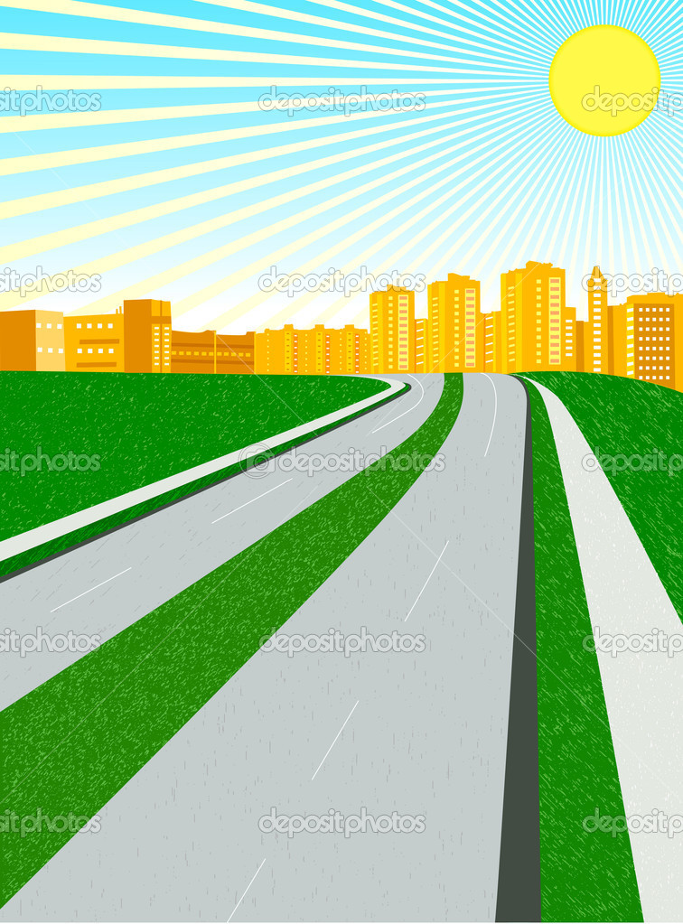 756x1023 City Clipart City Road