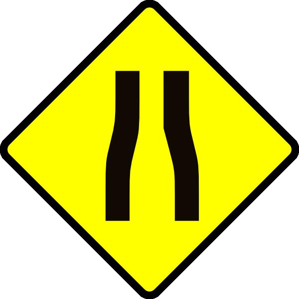 600x600 Roadway Clipart Narrow Road