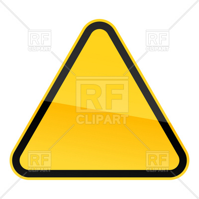 400x400 Yellow Blank Warning Sign Tamplate Royalty Free Vector Clip Art