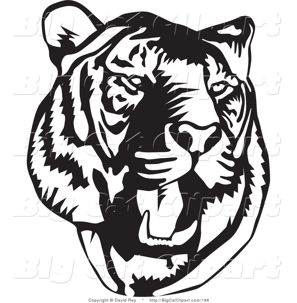 1024x1044 Roaring Tiger Face Clip Art