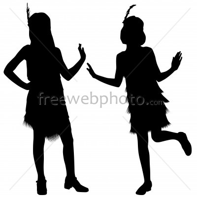 400x400 1920s Flappers Clipart