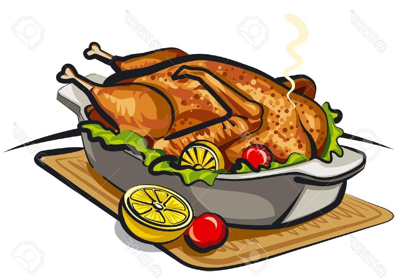 1300x914 Roast Goose Stock Vector Chicken