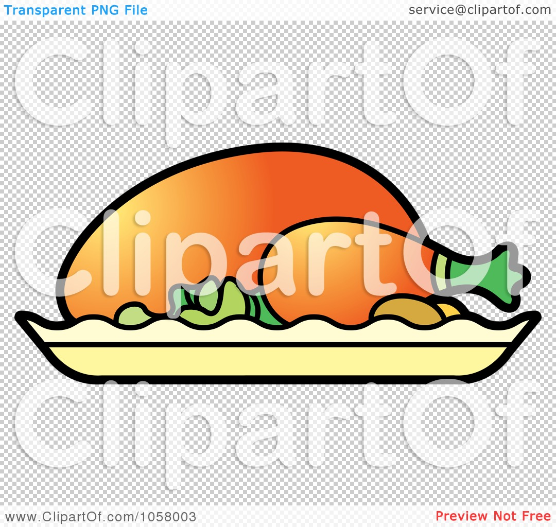 1080x1024 Royalty Free Vector Clip Art Illustration Of A Roasted Chicken By
