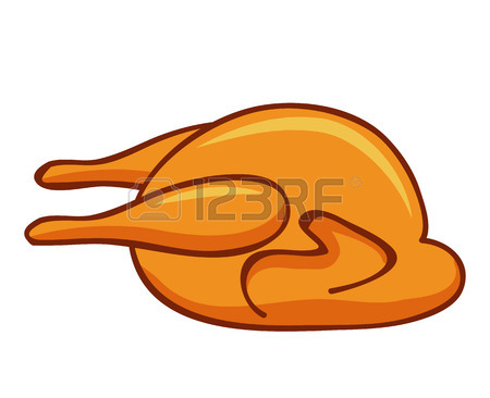 450x366 Vector Illustration Of Roast Chicken Royalty Free Cliparts