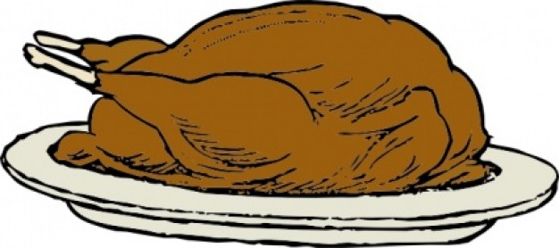 626x278 Chicken On A Plate Clipart