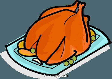 480x337 Roast Chicken Royalty Free Vector Clip Art Illustration Vc061832