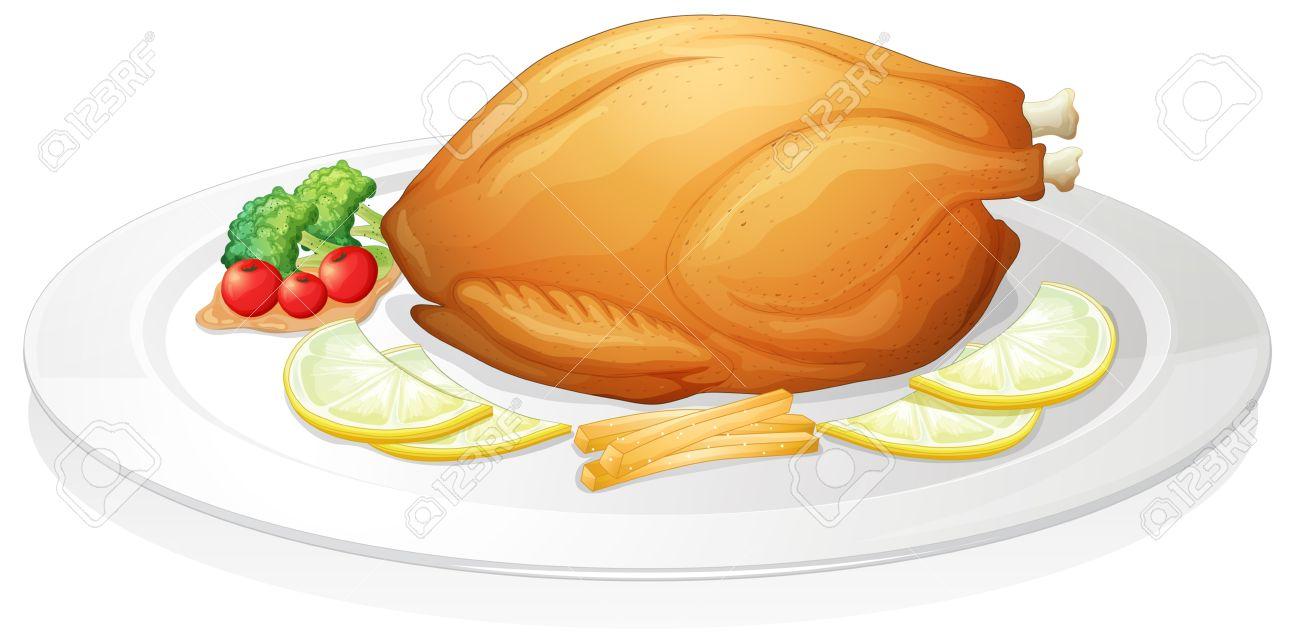 1300x633 Roast Chicken Dinner Clipart