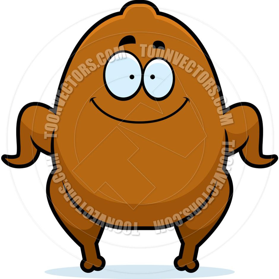 940x940 Cartoon Roast Turkey Smiling By Cory Thoman Toon Vectors Eps